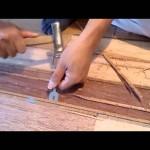 手際のよい単板貼替の施行例